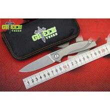 Green Thorn неоновые M390 лезвие Титан ручка Флиппер Складной нож Открытый Отдых на природе охотничий pocke Фруктовые Ножи EDC инструменты выживания
