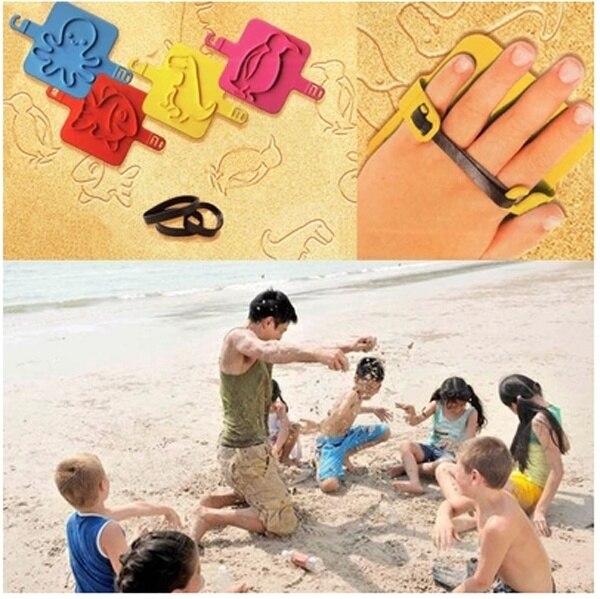 4pcs animal shapes Baby kids beach sand mold seal fun tool set