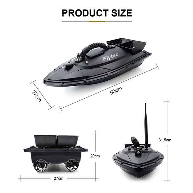 Flytec 2011-5 1.5kg Fish Boat RC Boat Fish Finder Professional Fisch Boat Fishing Bait Boat Remote Control Speedboat Toy 5.4km/h 3