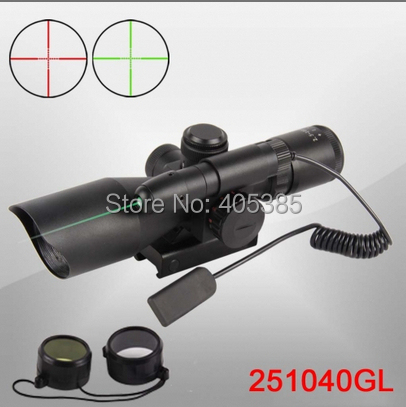 ФОТО Hunting 2.5-10x40 Hunting Green Laser Riflescope with Mini Red Dot Scope Combo Weapon Sight