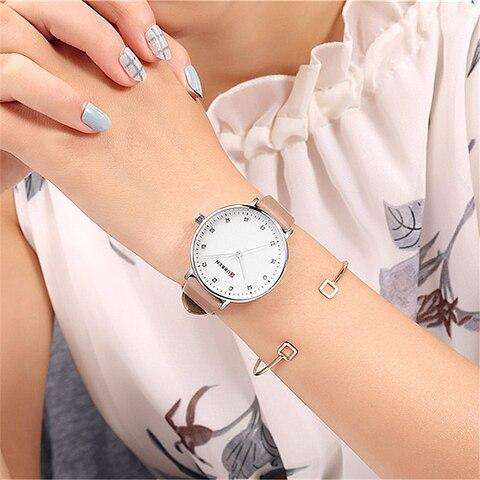 Simple Fashion Diamond Quartz Watches Womens Elegant Ladies Wrist Watch Female Clock CURREN Leather Watch For Women Reloj Mujer Karachi