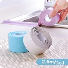 Waterproof tape kitchen sink bathroom joint strip corner line toilet midew proof