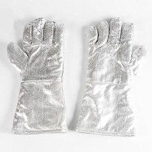 Бесплатная доставка высокая температура защитная фольга рабочие перчатки износостойкость тепловой изоляцией full lining.