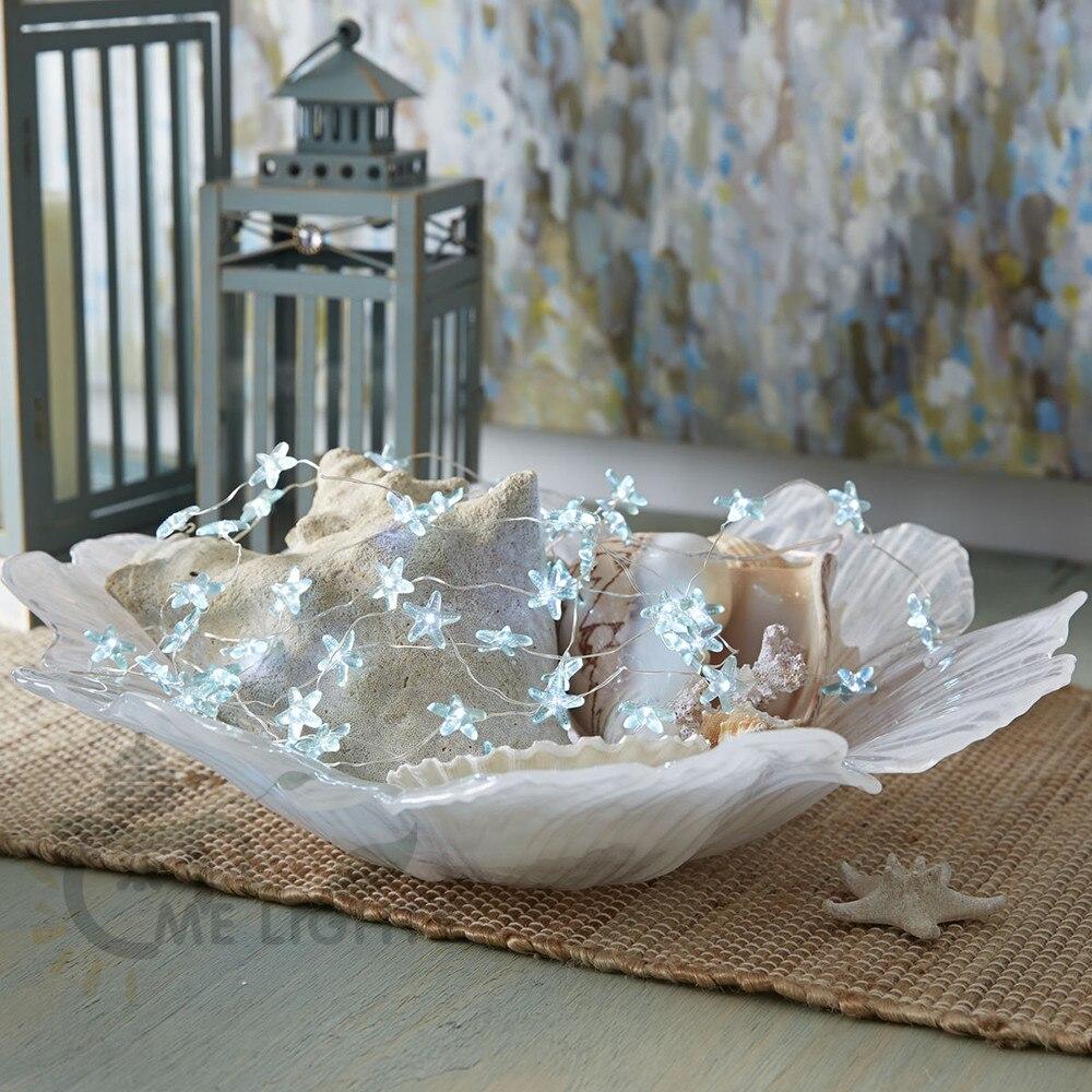 3,3 Mt 30LED Starfish Silber Draht LED String Lichterkette 3AA ...