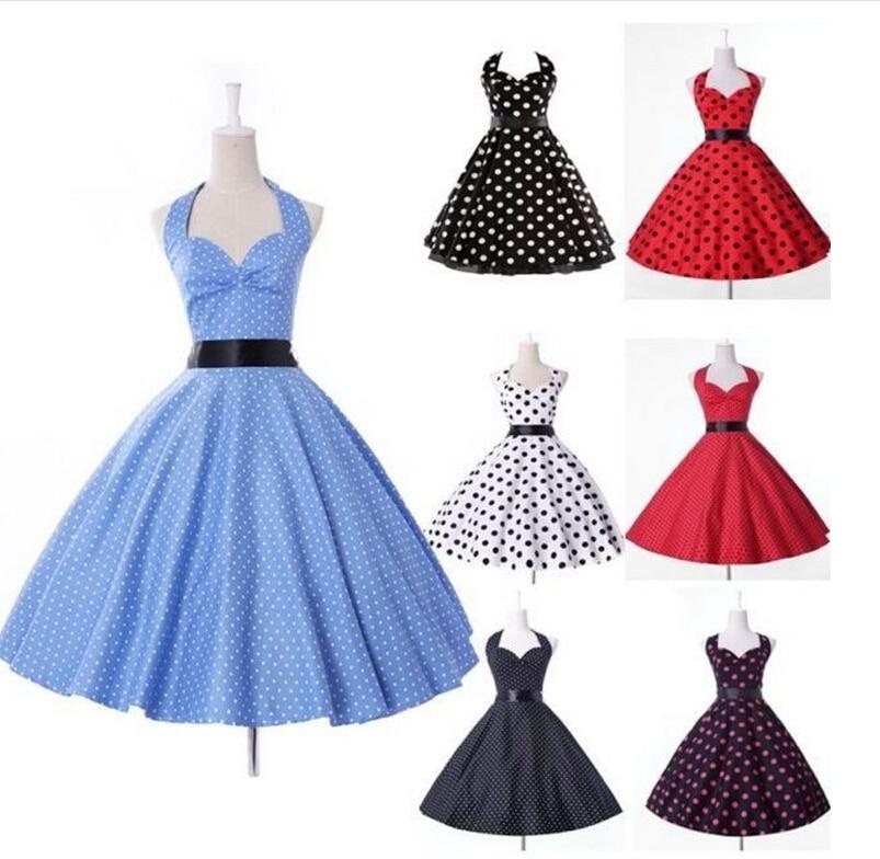 ⊹Envío libre retro 50\'s estilo rockabilly swing algodón vestido de ...