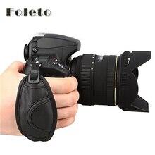 Empuñadura de mano para cámara empuñadura de correa para mano de PU, garantía de 100%, para Canon EOS 5D Mark II 650D 550D 450D 600D 1100D 6D 7D 60D