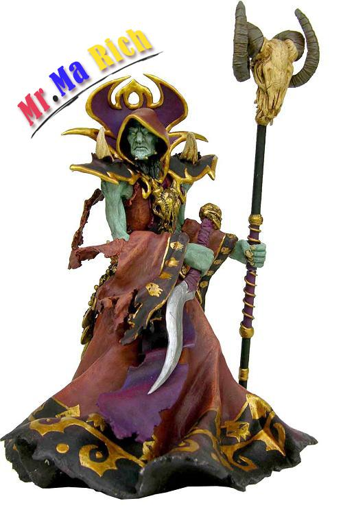 21cm Undead Warlock Action Figure 1/8 Scale Painted Figure Windrunner Doll Pvc Acgn Figure Garage Kit Toys Brinquedos Anime 1 set cute tigger owl winnie action figure 1 12 scale painted figure ver piglet tigger dolls pvc acgn figure toys anime