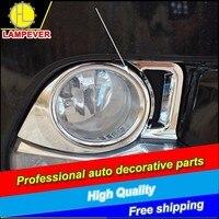 L Car Style ABS Chrome Trim Rear Fog Light Lamp Cover For Toyota Highlander 2015 Car fog lamp cover trim Decoration Accessories