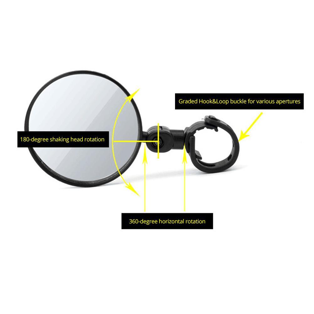 Задние Зеркала для велосипеда, вращение на 360 градусов, зеркала заднего вида для велосипеда, подходит для горного велосипеда, MTB, руль 15 мм-35 мм