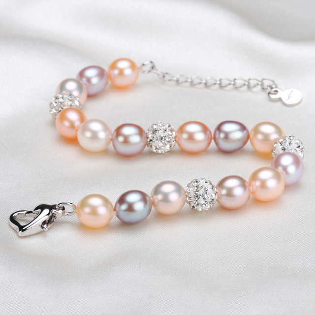 Tear Drop Natural Pearl Bracelet 7 8mm Waterdrop Real Pearls Multicolor Jewelry
