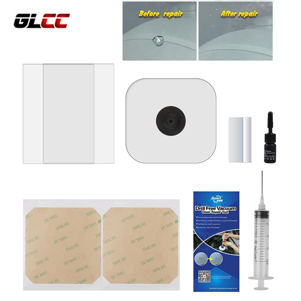 GLCC DIY Car Windshield Repair Kit Tools Window Repair Tool Auto Paintless Dent Removal Car Glass Repair Cracked Windshield Kits ...