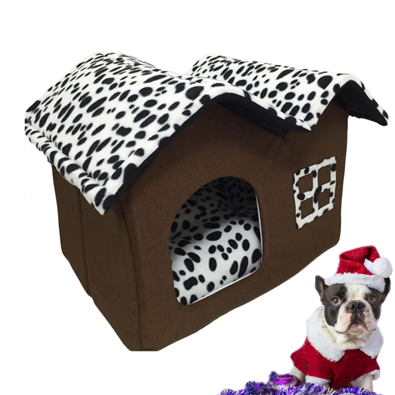 Fashion Pet Cat Dog House Warm Folding Dog Kennel For Puppy Kitten
