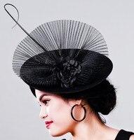 2017 כובע קוקטייל Fascinator חתונת נופש לנשים הקמעונאי הרעלת צרפתית שיער סרט אבזר מסיבת בציר האופנה ליידי