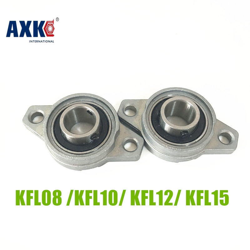 AXK KFL08 KFL10 KFL12 KFL15 Bore 8mm 10mm 12mm 15mm Pillow Bearing Mounted Block Cast Housing Self-aligning Pillow Bearing mochu 22213 22213ca 22213ca w33 65x120x31 53513 53513hk spherical roller bearings self aligning cylindrical bore