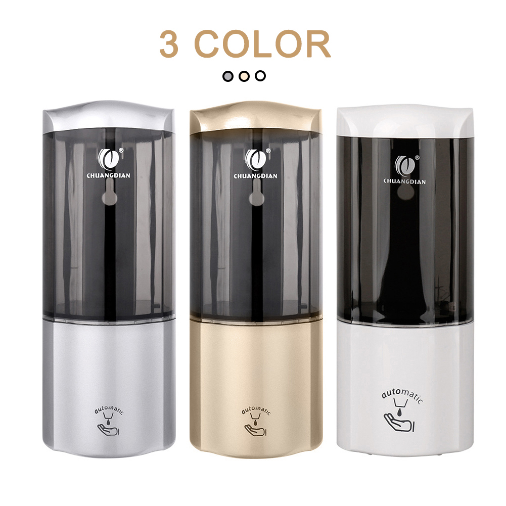 Nova chegada Luxuoso 2 pcs 500 ml inteligente Wall Mount Sensor INFRAVERMELHO Automático Cozinha Banheiro Distribuidor da Loção do Sabão gota grátis - 2