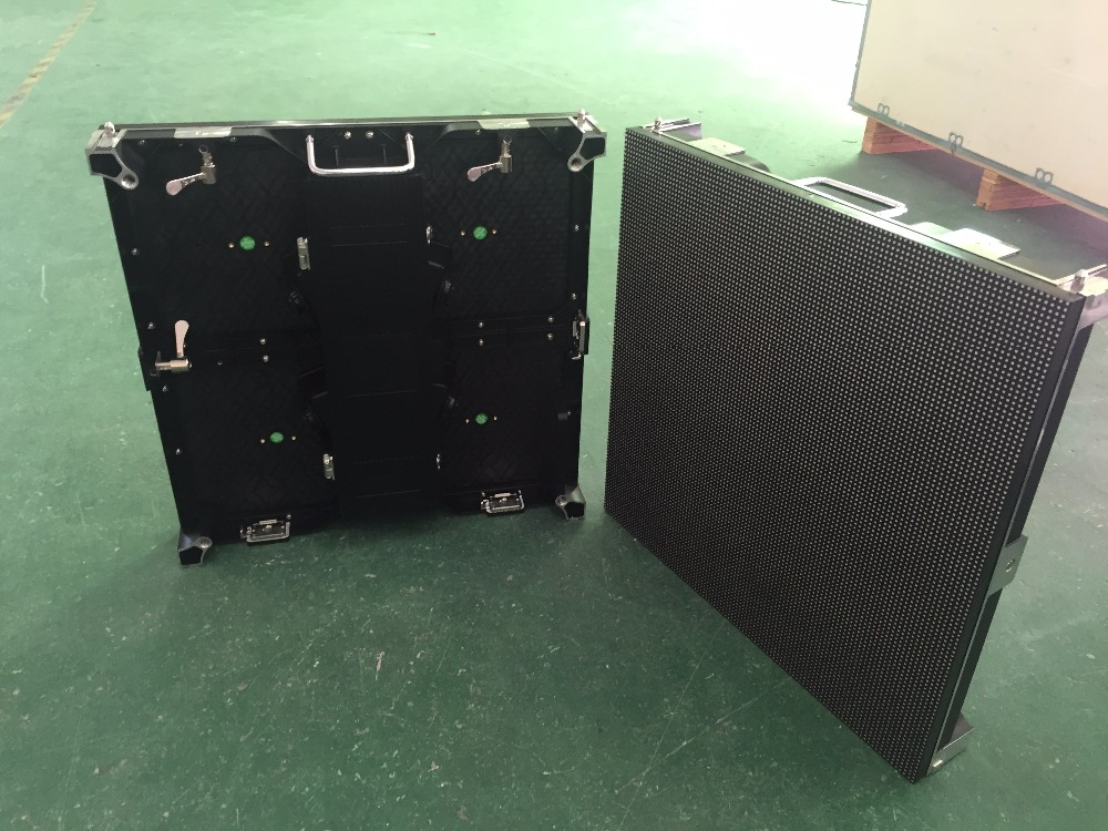 P4.81 outdoor Die casting Aluminum 500x500mm LED Cabinet Panel Ultra Slim Outdoor P4.81mm 250x250mm module Video wall