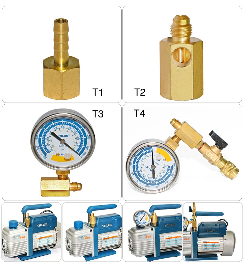 New Vacuum Gauge Refrigerant Table With R22  Regulating Valve FOR Vacuum Pump HVAC Refrigeration Repair Tools