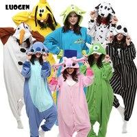 Brand Adult Unicorn Pajamas For Women Men Lilo And Stitch Pokemon Cosplay Costume Polar Fleece Animal