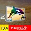 """Горячая продажа! 10.4 Дюймов Open Frame 4 Проводной Резистивный Сенсорный Экран Монитора ПК 10 """"дюймовый Сенсорный Экран TFT LCD Цветной Монитор"""