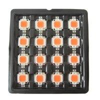 20 adet 45mil Süper Parlak 10 W Tam Spektrum 400 ~ 840nm SMD LED Çip BridgeLux Için Işık Lambası Büyümek bitki Büyümek