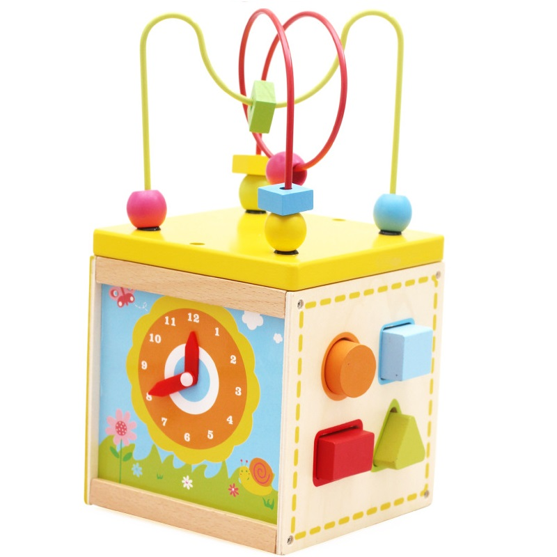 Big Maze Wooden Toy with Shape Learning Educational Soft Montessori children intelligent creative interactive toys SK033 wooden toys for children montessori educational cylinder socket blocks toy baby development practice and senses