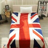Американский Флаг Фланелевое одеяло, коралловый флис ткань Британский ВЕЛИКОБРИТАНИИ юнион джек 200*230 см Удобная теплый Бросить осень зима ...