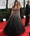 Brilhante lantejoulas cristal frisado longo vestido de noite vestido de baile Formal vestidos de noite vestidos