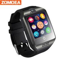 Q18 Smart Watch для Android поддержки GPRS Bluetooth мужские и женские Спорт Reloj inteligente для Samsung телефон носимых GT08 DZ09 GV18