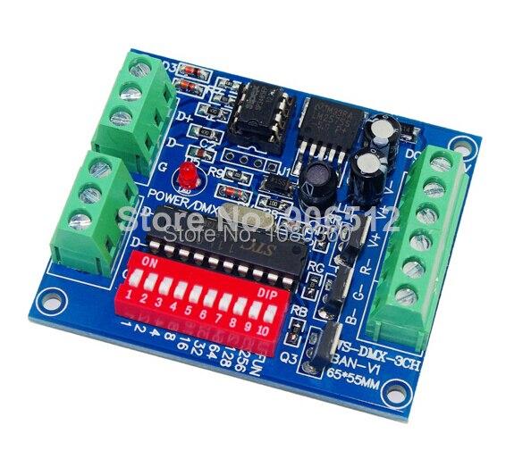 dc5v 24v led rgb dmx decoder board 3 channel 3 way dmx 512 light controller easy to rgb. Black Bedroom Furniture Sets. Home Design Ideas