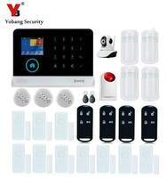 YobangSecurity Wireless Home Security System Wifi GSM GPRS RFID Alarm System Wireless Siren IP Camera Smoke Fire Detector Sensor