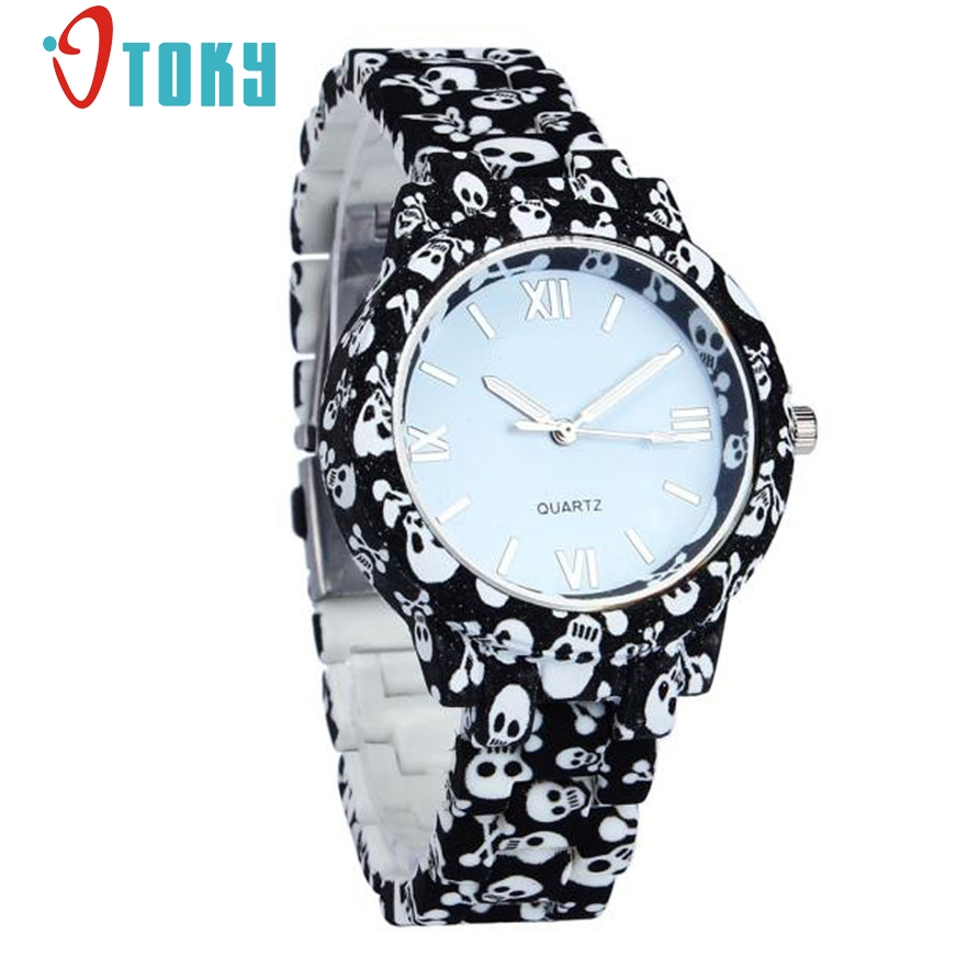 OTOKY Geneva Quartz Women Watch Fashion Faux Ceramic Watches Casual Quartz-watch Skull Dress Ladies Wrist watches #30 Gift 1pc otoky montre pocket watch women vintage retro quartz watch men fashion chain necklace pendant fob watches reloj 20 gift 1pc