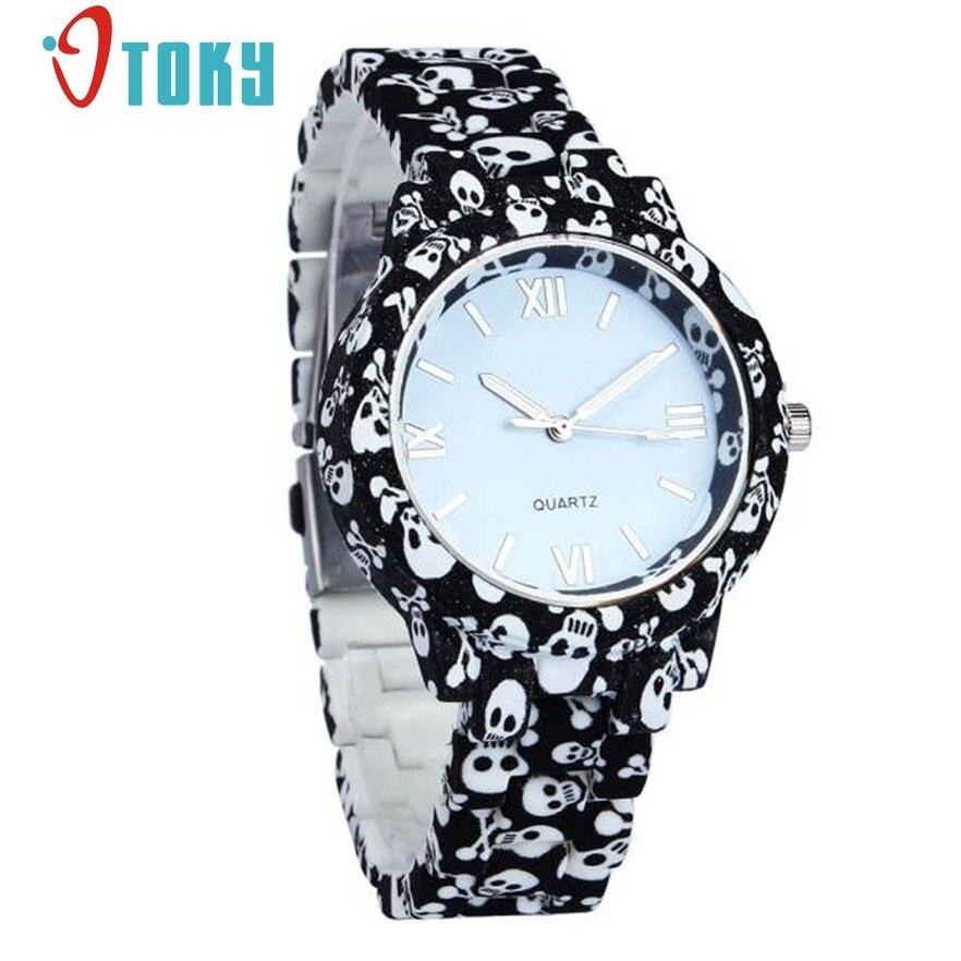 c98e17df59d Relógios de Genebra Otoky Faux Cerâmica Mulheres de Quartzo Relógio Moda  Casual Quartzo-relógio Crânio Senhoras Vestido Relógios Pulso 30 Presente 1  pc