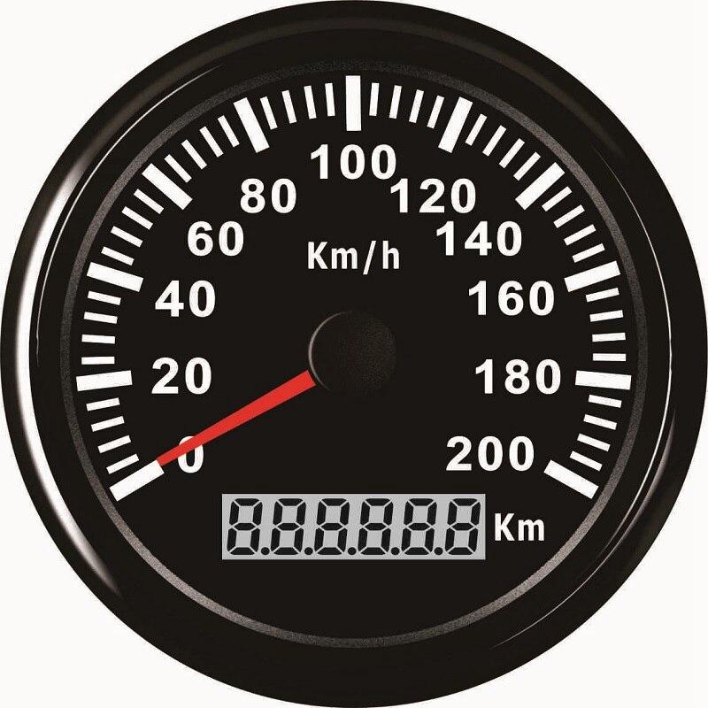 New 85mm GPS Speedometer 200km h Speed Gauge Odometer ATV UTV Motorcycle Marine Boat Buggy Golf