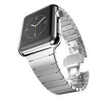 Ze stali nierdzewnej stalowy pasek na pasek do apple watch 40mm 38mm correa luksusowe Link bransoletka pasek apple zegarek iwatch 5 3 4 44mm/42mm