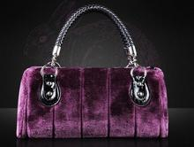 2015 Charming Elegant  Lady Day Clutches  Woman leather handbag Women's Fur Bag