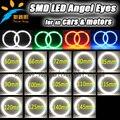 Авто Halo Кольцо 3014 SMD Лампы 60 65 72 80 85 90 100 105 110 115 120 125 140 145 мм Автомобилей Angel Eyes Led автомобиль глаза