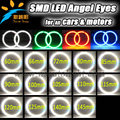 Auto Farol de Halo Anel 3014 SMD 60 65 72 80 85 90 100 105 110 115 120 125 140 145mm Kit Angel Eyes Led Motor Do Carro do carro olhos