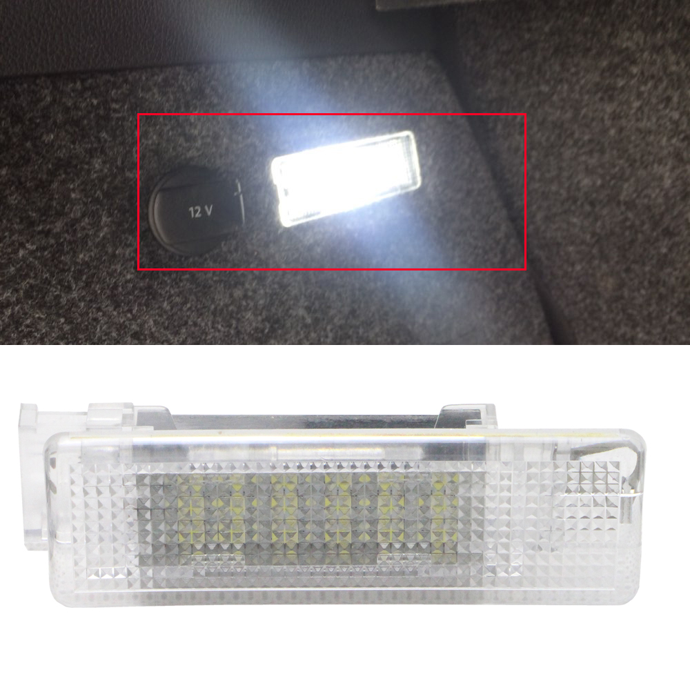 12V 6000K Xenon White LED Interior Lamp Car Trunk Luggage Compartment Light For VW Golf Jetta Passat CC B6 B7 Cargo Area Lamp for volkswagen passat b6 b7 b8 led interior boot trunk luggage compartment light bulb