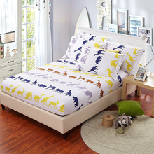 Bed Sheet Pillow Case Yellow Printed Sheets Colored Mattress Cover Protector Anime Queen Size