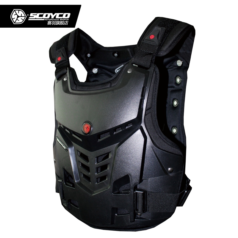 Scoyco AM05 Professional Motorcycle Armor Jacket Motocross Off Road Body Armor Vest Racing Protective Guard Gear scoyco am05 racing motorcycle body armor protector black size l