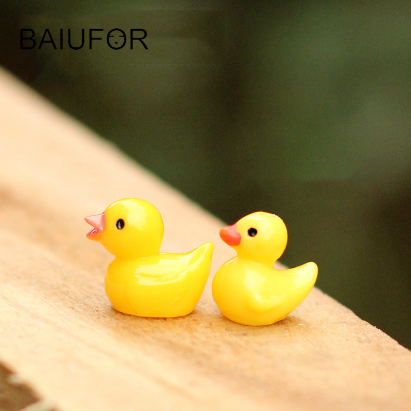 BAIUFOR 3pcs little Ducks Mini Garden Miniature Terrarium Figurines ...