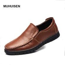 New Handmade Genuine Leather Men Flats Driving Soft Leather Men Moccasins Brand Men Shoes Loafers Slip On Shoe
