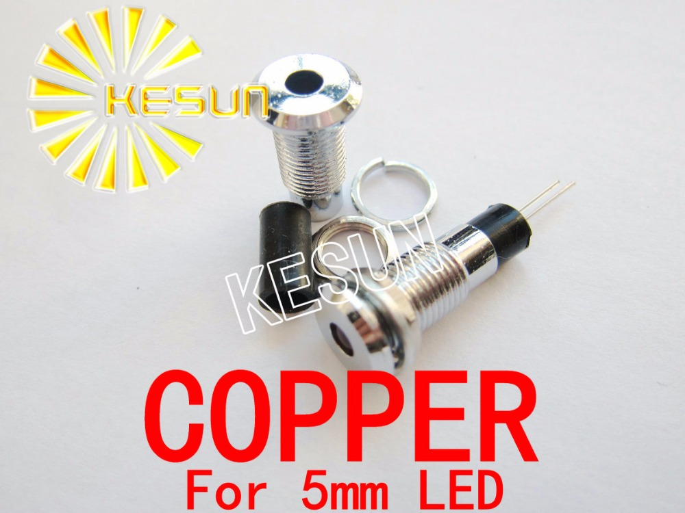 5PCS X 5mm Flat Top Copper LED Holder Socket For 5mm Round Top LED Diodes
