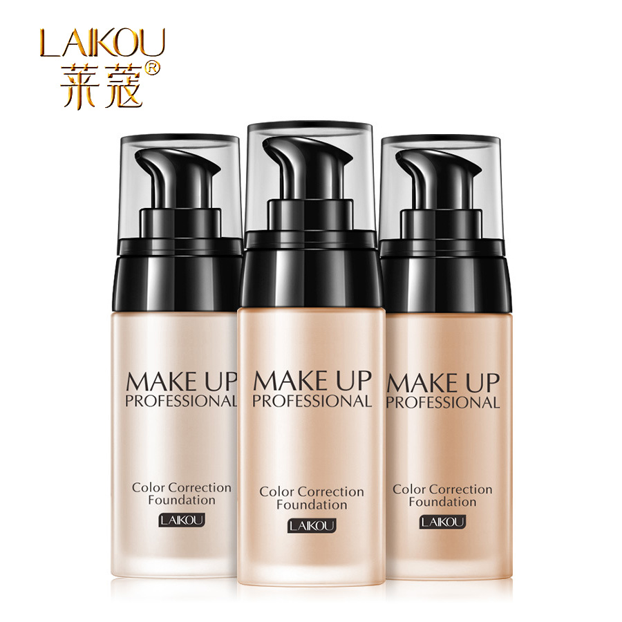 BOB Brand Face Foundation Makeup Base Fluid Liquid Foundation BB CC Cream Concealer Primer Easy to Wear Soft Carrying Foundation o two o face makeup base face liquid foundation bb cream concealer foundation primer easy to wear 30ml