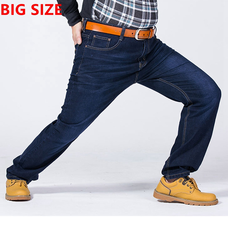 Big code jeans winter code elastic loose jeans fat add fertilizer increased 38 40 42 44 46 38 50 52 pants