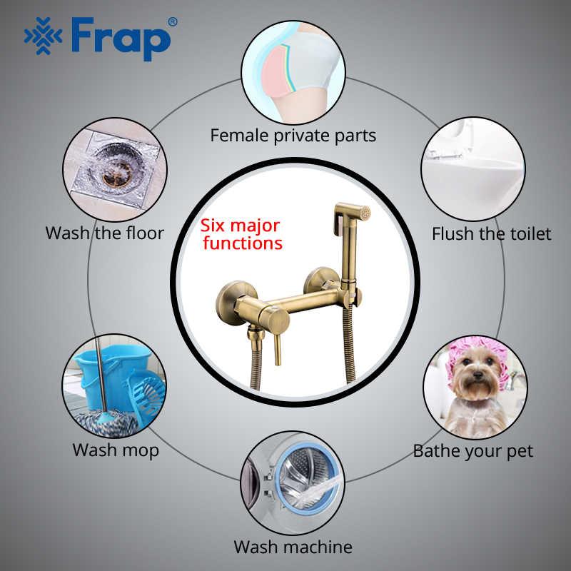 FARP Bidet grifos de bronce para ducha, cabezal de ducha, rociador de ducha higiénico, rociador de aire, mezclador caliente y frío, kit de rociador de inodoro bidet spray