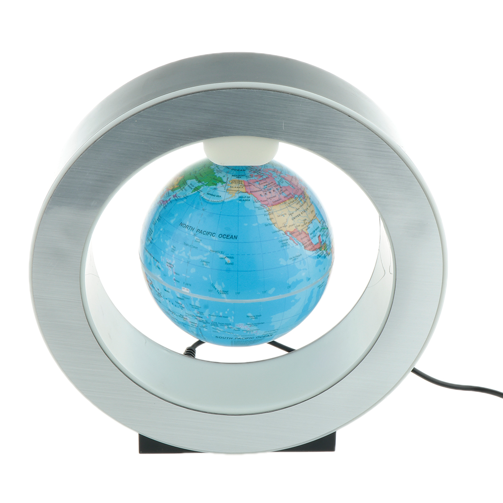 LED Magnetic Levitation Globe Lamp Decoration 6 Inches Bedroom Bookcase Night Light Home Decor