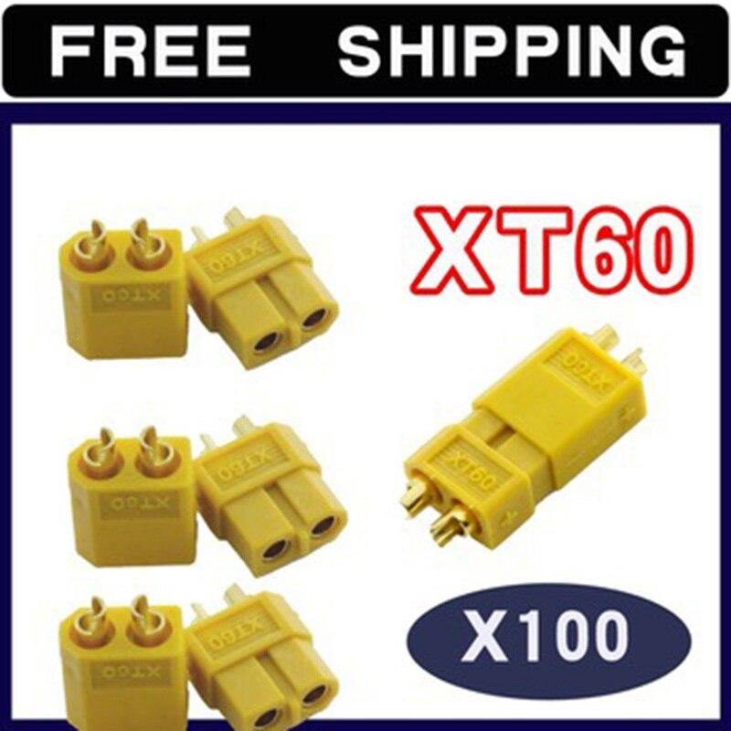 100 paire XT60 connecteurs de balle bouchons mâle/femelle pour lipo batterie ESC moteur
