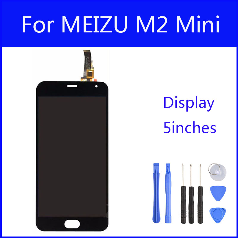 Original LCD For MEIZU M2 Mini Display Screen Digitizer Touch Screen Meiblue M2 Glass Panel 5