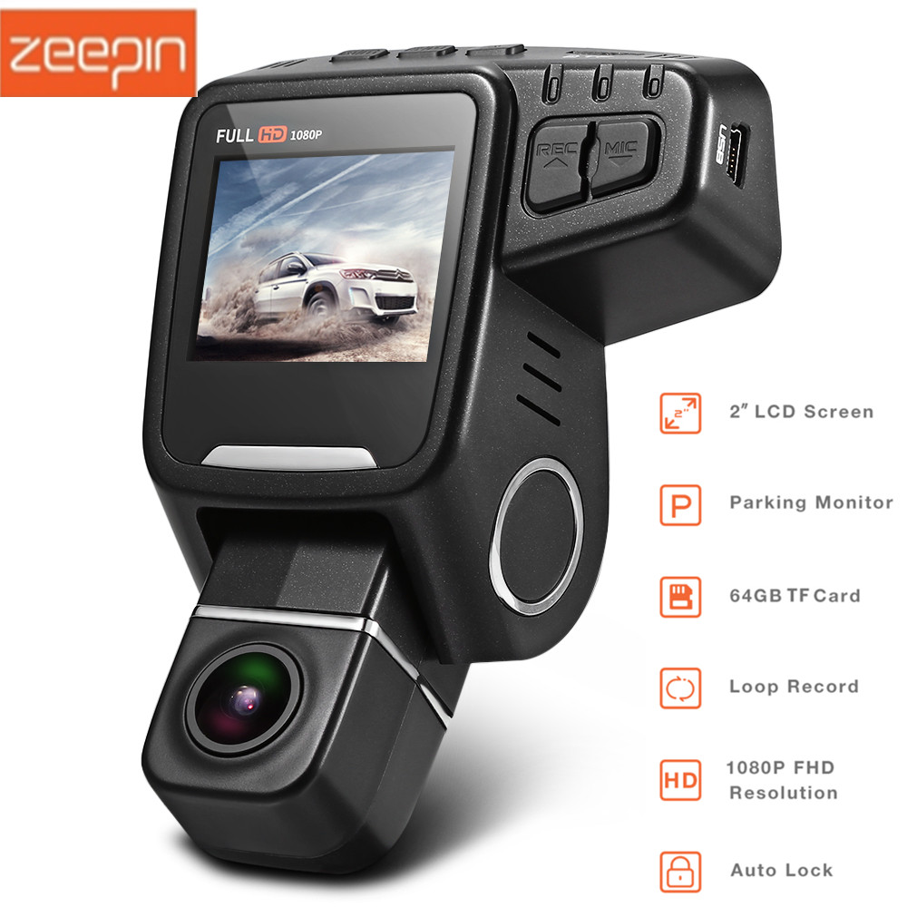 Zeepin T682 Dash Cam 2-inch FHD 1080P Lens Rotation Auto Hidden DVR Support 64G Card GPS WDR G-sensor Lock Car Driving Recorder пила торцовочная победа пт 200 1375